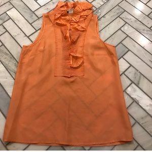 J. Crew ruffle silk blouse